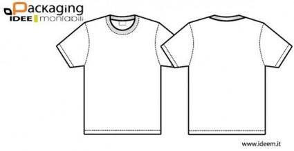 free vector T-shirt template vector