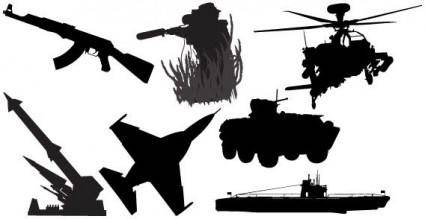 Military vehicles vector