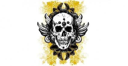 free vector Grunge skulls vector