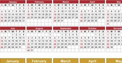 free vector 2009  calendar
