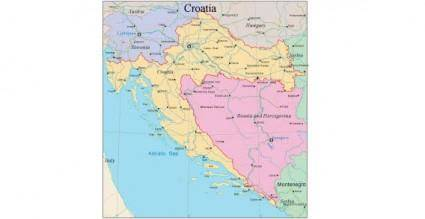 free vector Croatia map vector