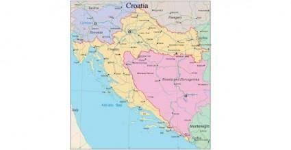 free vector Croatia map vector