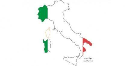 free vector Italy map