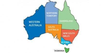 free vector Australia map