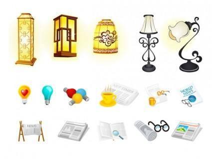 free vector Light bulb newspaper vector