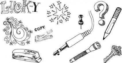 Hand drawn designs free vector