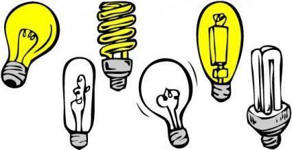 free vector Light bulbs vector
