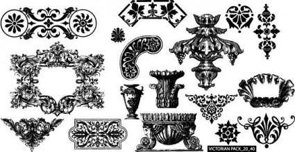 free vector Victorian free vector pack