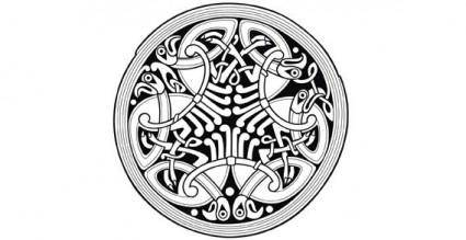 Circle Celtic ornament vector