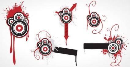 Grunge circles vector graphic