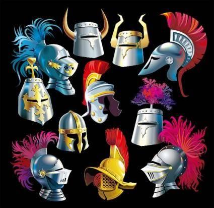 free vector Samurai helmet vector