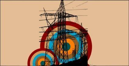 free vector Retro electric tower free vector graphics