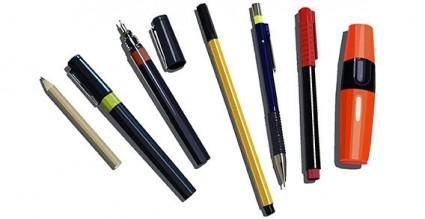 Pens, pencils and markers free vector