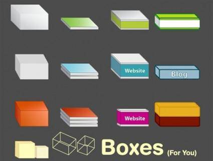 free vector Boxes free vector