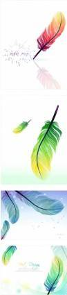 free vector Feather color vector