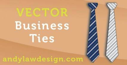 free vector Business Tie Vectors