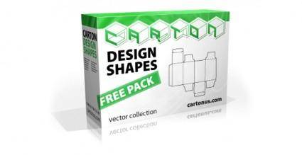 Carton Design Shapes Free Vector Pack