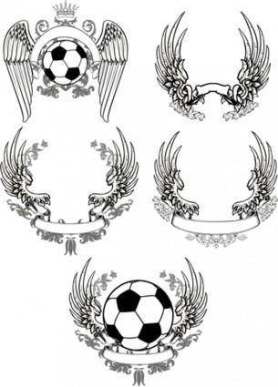 free vector Scrolled Wings Designs