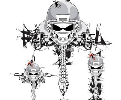 free vector Vector Skeleton Football Helmets