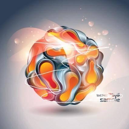 Threedimensional vector symphony ball