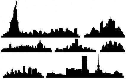free vector Free Vector City Skylines