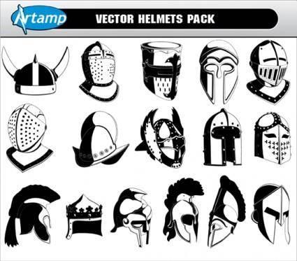 Free Vector Helmets Pack