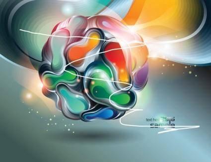 free vector Threedimensional vector 2 symphony ball