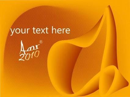 free vector Card in Orange