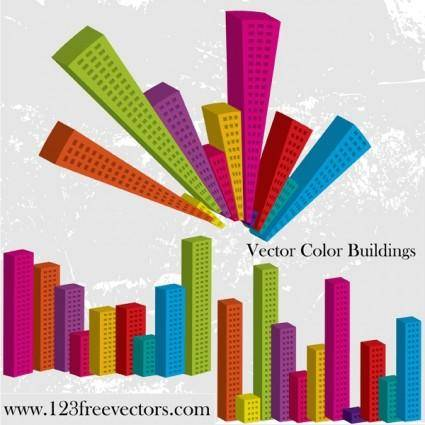 free vector Vector Color Buildings