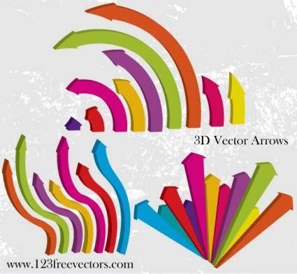 free vector 3D Vector Arrows