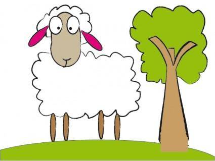 free vector Simple Sheep Vector