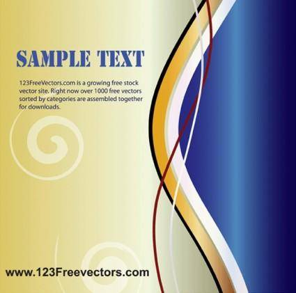 free vector Wave Page Layout Vector