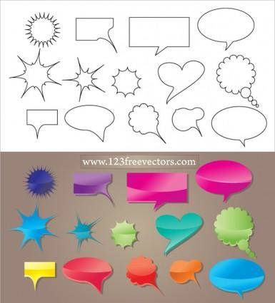free vector Speech Bubble Vector