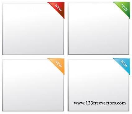 free vector Paper Corner Vector