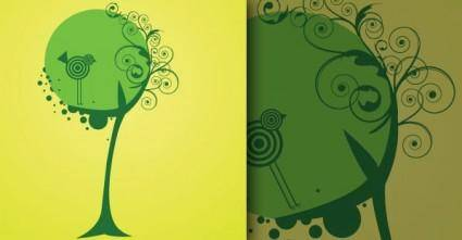 free vector Vector Tree and Bird