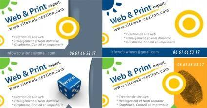 Business card template vectors