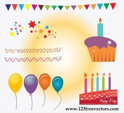 free vector Birthday Cake Vector