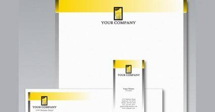 free vector Stationery Design Template