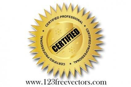 free vector Certified professional vector