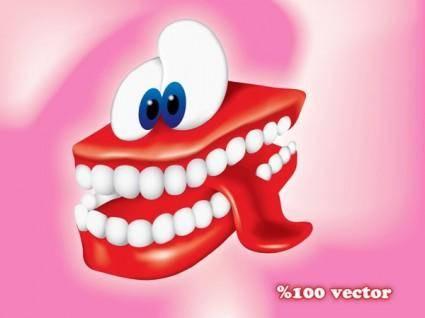 free vector Teethman Vector