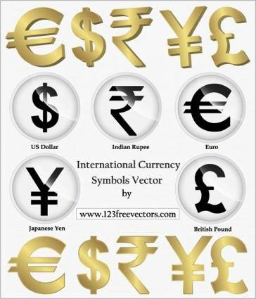 International Currency Symbols Vector, Png, Indian Rupees