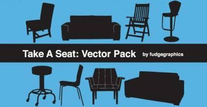 free vector Take A Seat Vector Pack