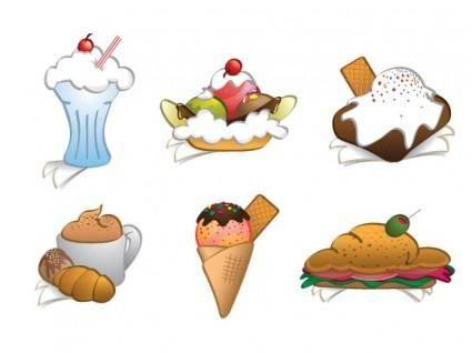 6 Free Vector Dessert Cliparts
