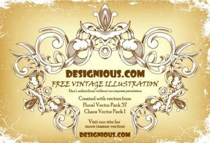 free vector Free vintage frame