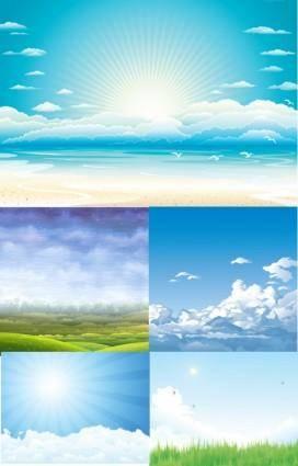 5 Sky Vectors