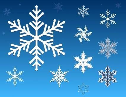 free vector Free Vector Snowflakes