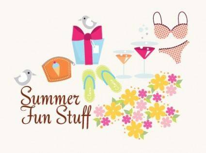 free vector Summer Fun Stuff
