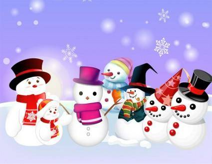 free vector Free Vector Snowman 02