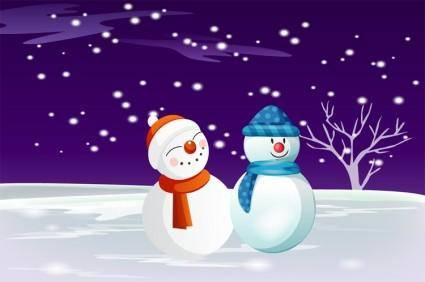 Free Vector Snowman