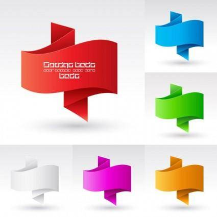 Beautiful origami graphics vector 2